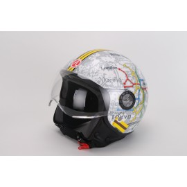 Casco DEMI-JET urban mappe SUBWAY